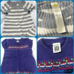 Toddler sweater knitted dresses